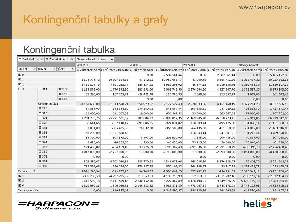 Kontingenční tabulky a grafy