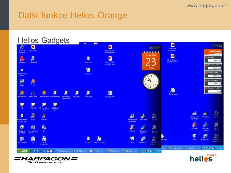 Další funkce Helios Orange