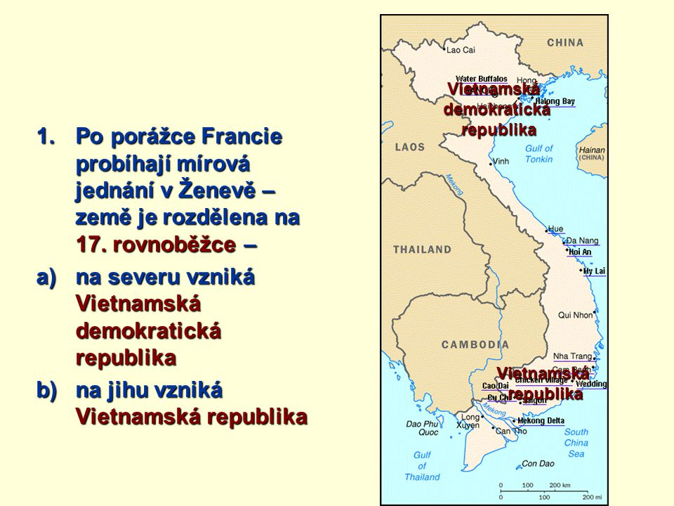 na severu vzniká Vietnamská demokratická republika