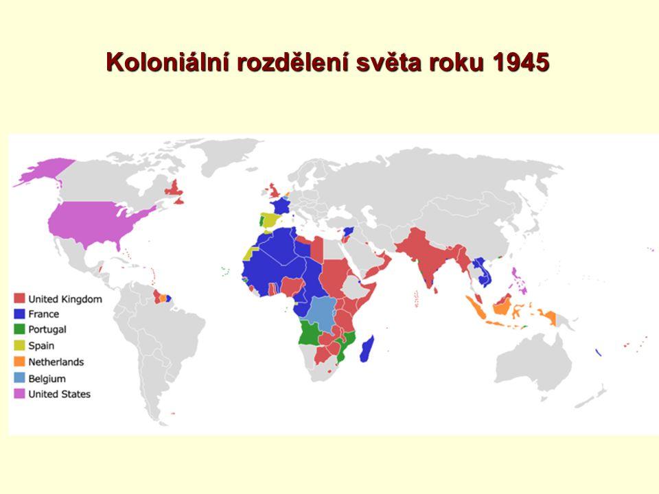 Koloniální rozdělení světa roku 1945