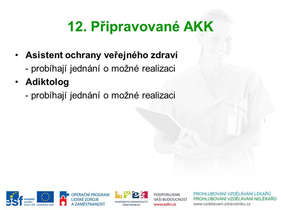 12. Připravované AKK Asistent ochrany veřejného zdraví