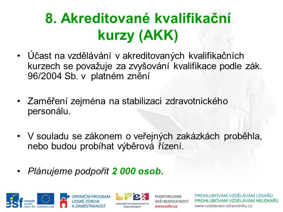 8. Akreditované kvalifikační kurzy (AKK)