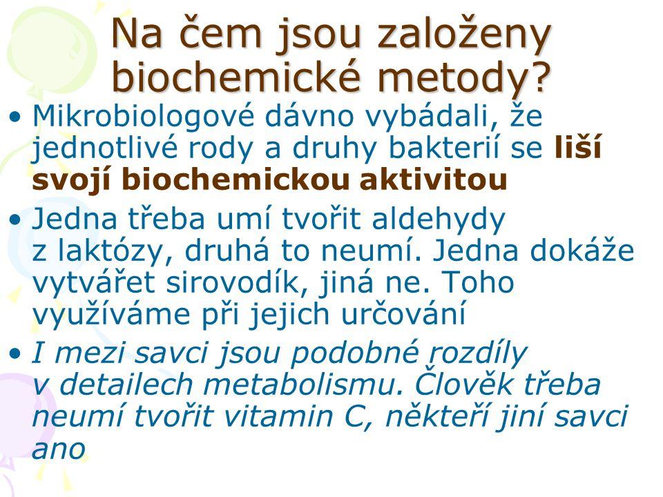 Na čem jsou založeny biochemické metody