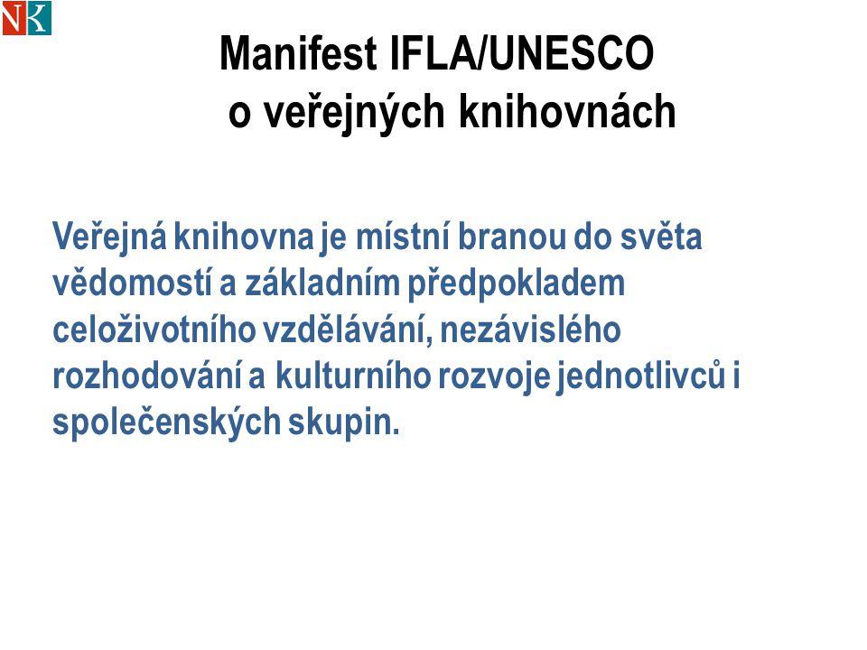 Manifest IFLA/UNESCO o veřejných knihovnách