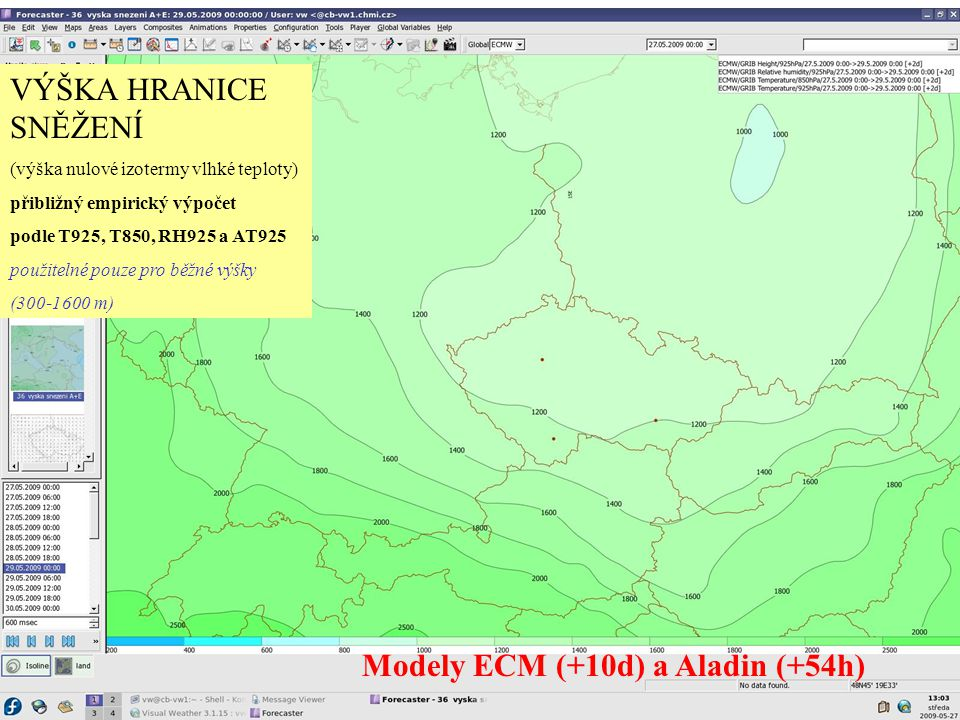 Modely ECM (+10d) a Aladin (+54h)