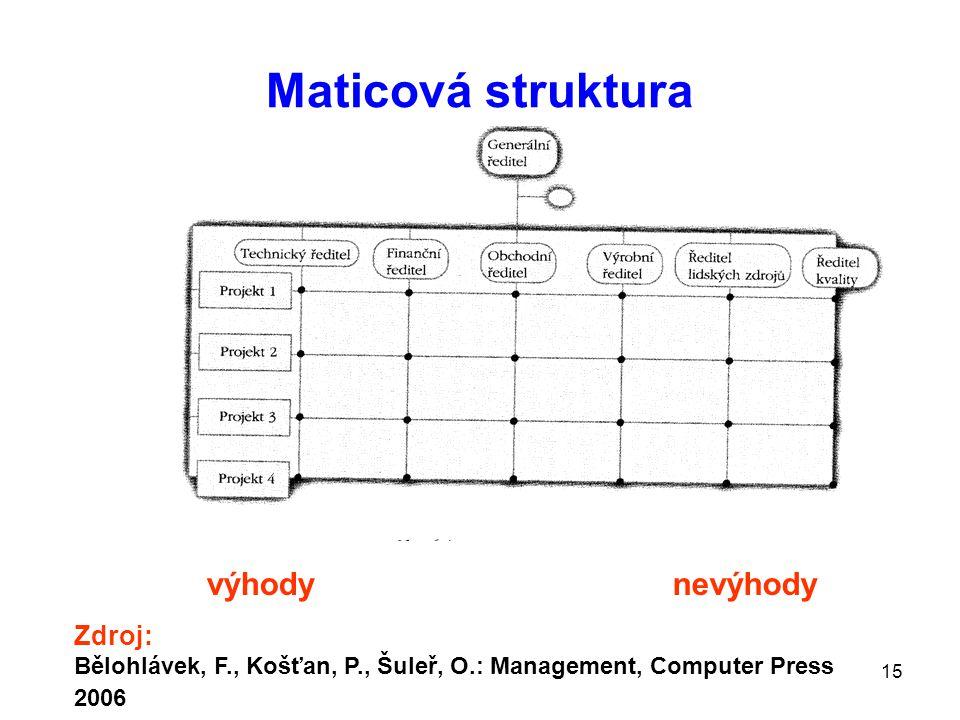 Maticová struktura výhody nevýhody