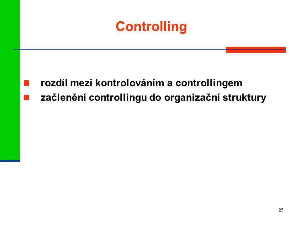 Controlling rozdíl mezi kontrolováním a controllingem