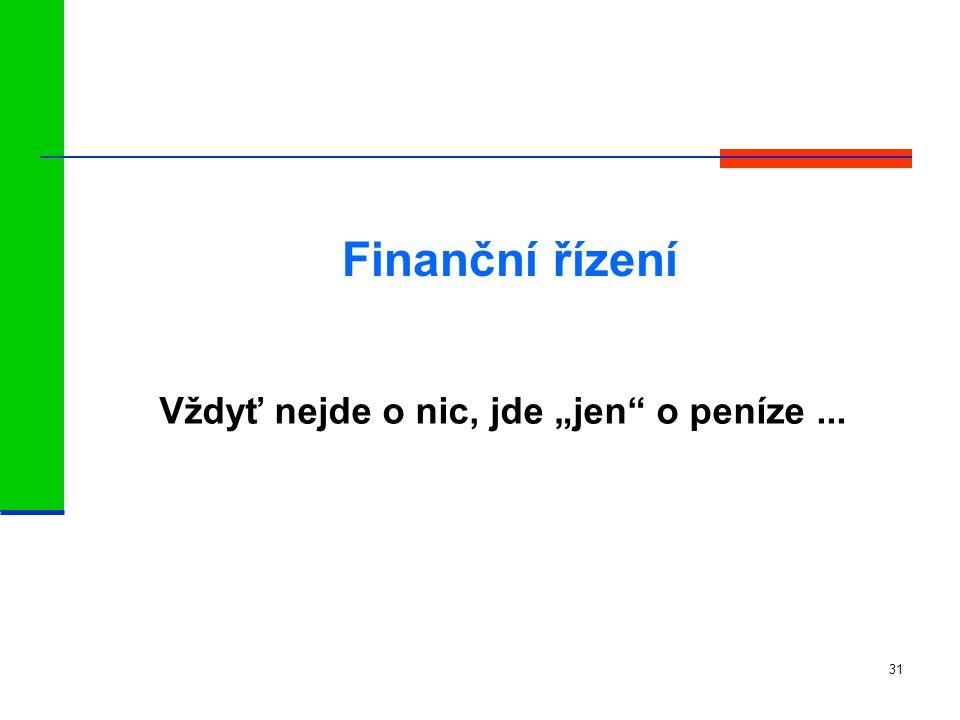 """Vždyť nejde o nic, jde """"jen o peníze ..."""
