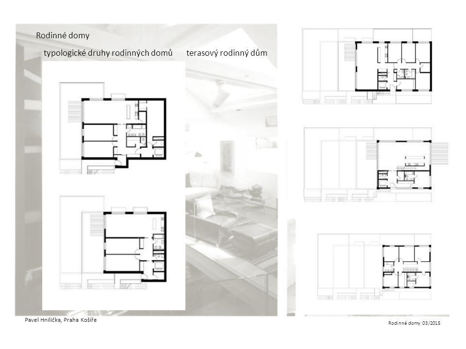 typologické druhy rodinných domů terasový rodinný dům