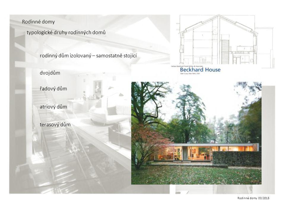Rodinné domy typologické druhy rodinných domů. rodinný dům izolovaný – samostatně stojící. dvojdům.
