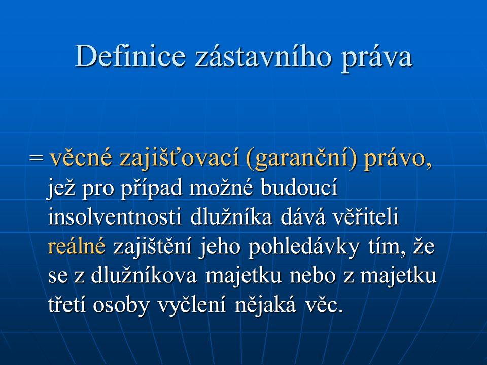 Definice zástavního práva
