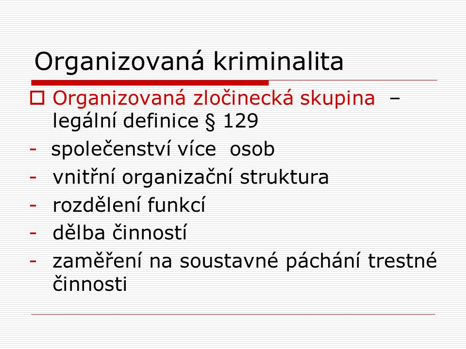 Organizovaná kriminalita