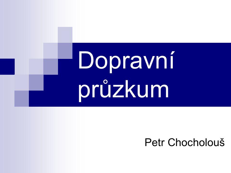 Dopravní průzkum Petr Chocholouš