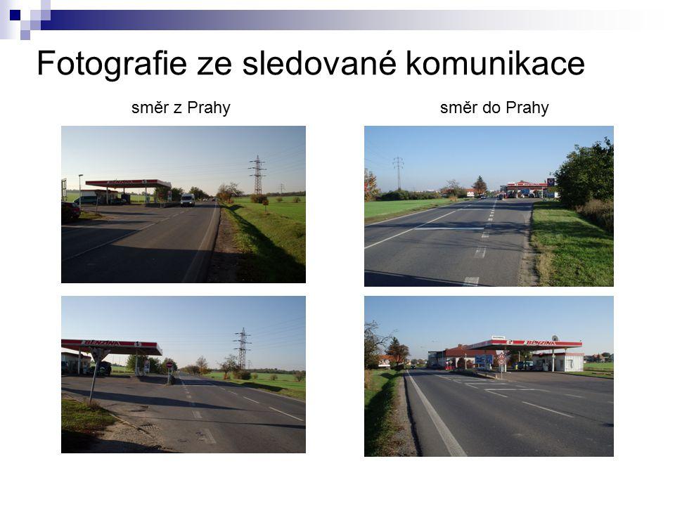 Fotografie ze sledované komunikace