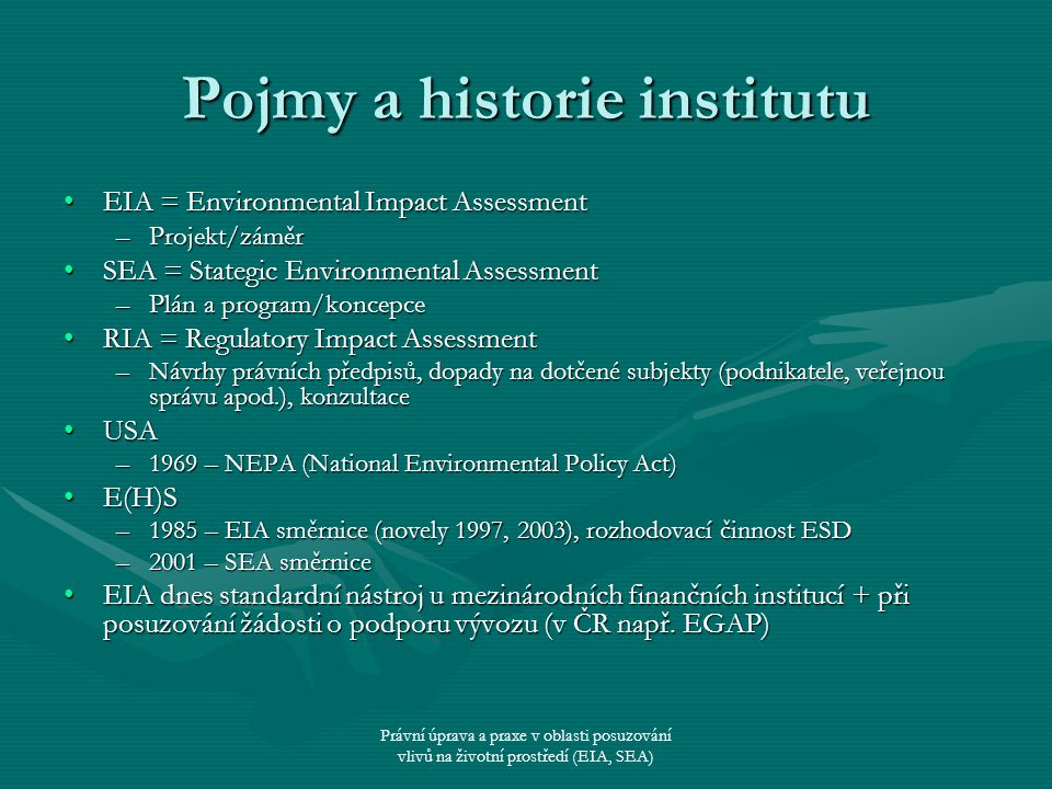 Pojmy a historie institutu