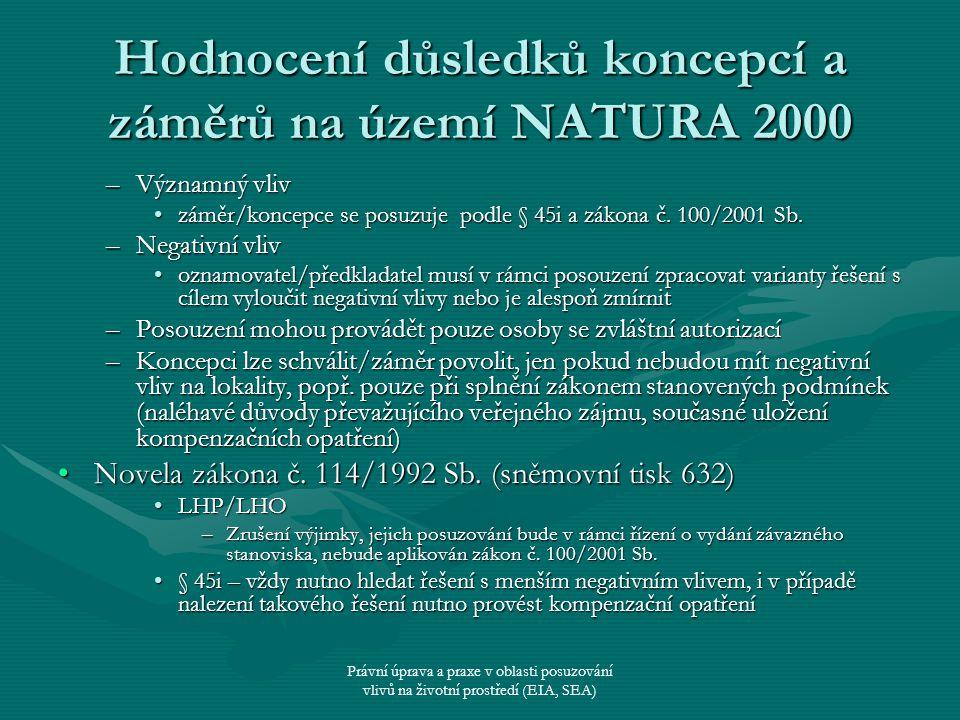 Hodnocení důsledků koncepcí a záměrů na území NATURA 2000
