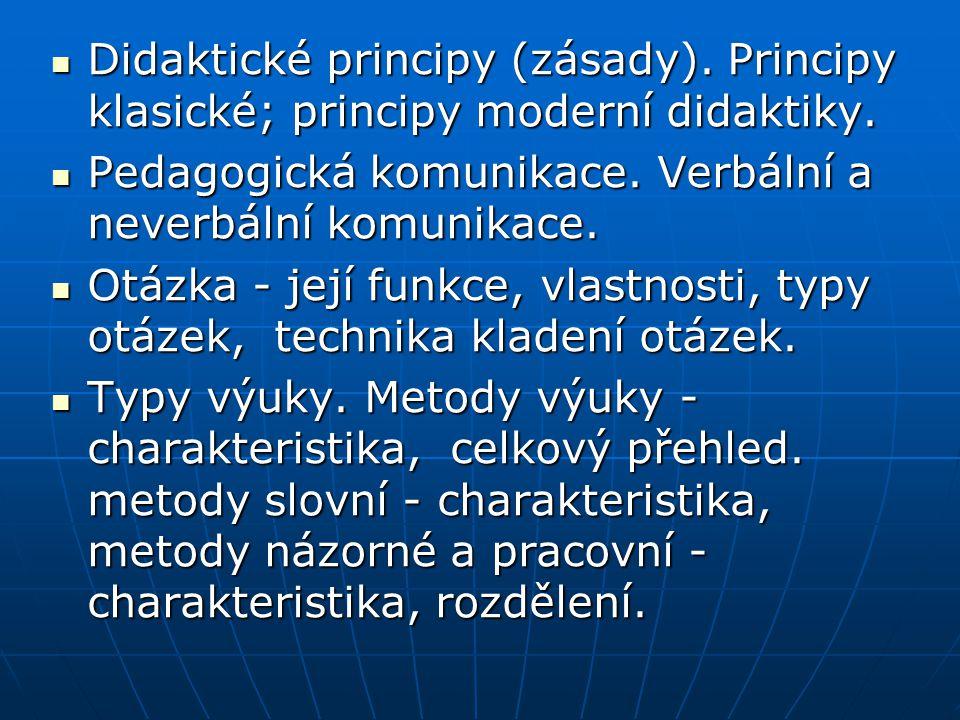 Didaktické principy (zásady)