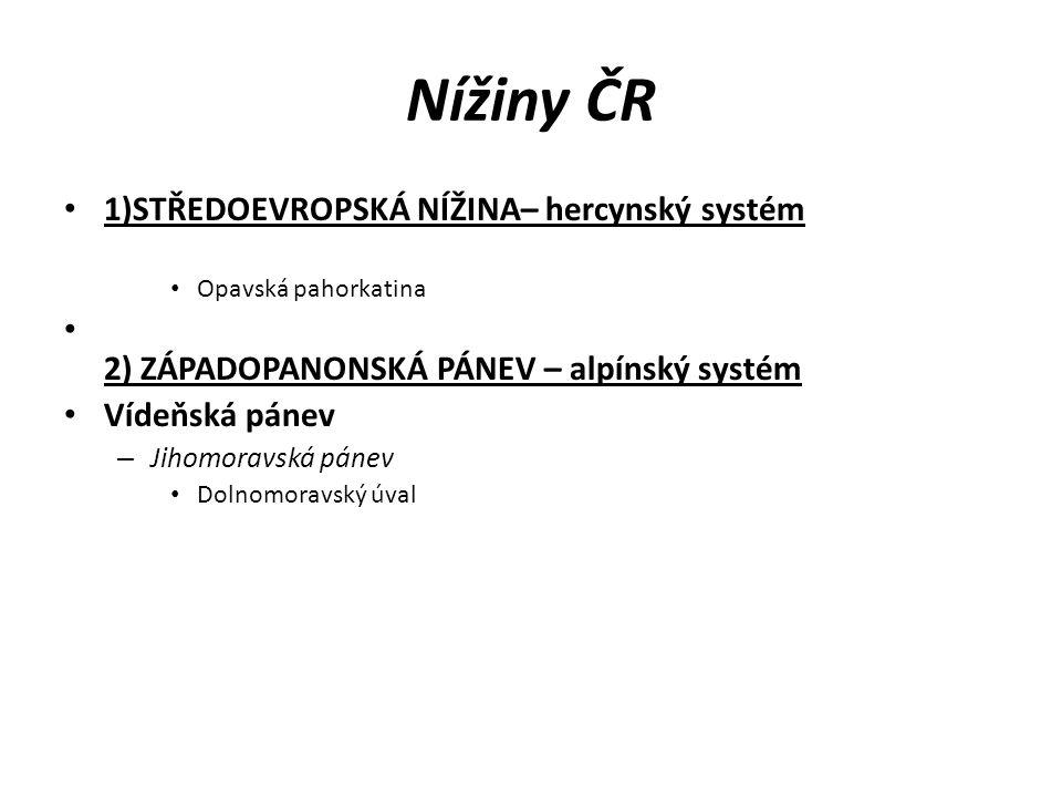 Nížiny ČR 1)STŘEDOEVROPSKÁ NÍŽINA– hercynský systém