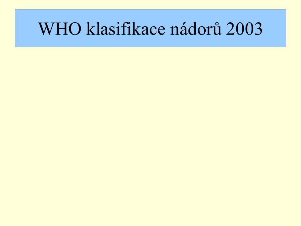 WHO klasifikace nádorů 2003