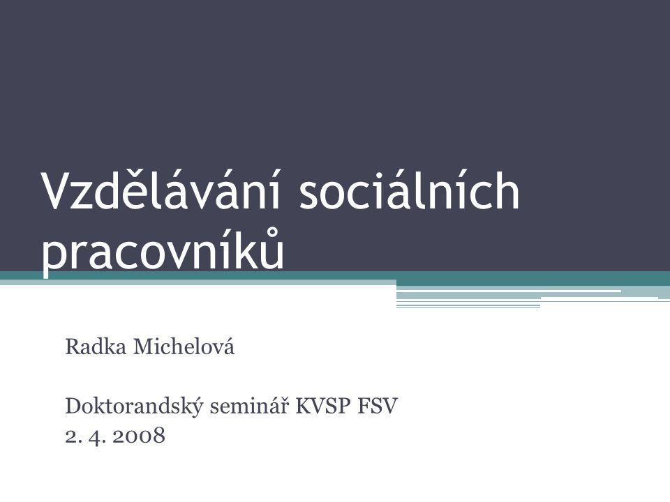 Vzdělávání sociálních pracovníků