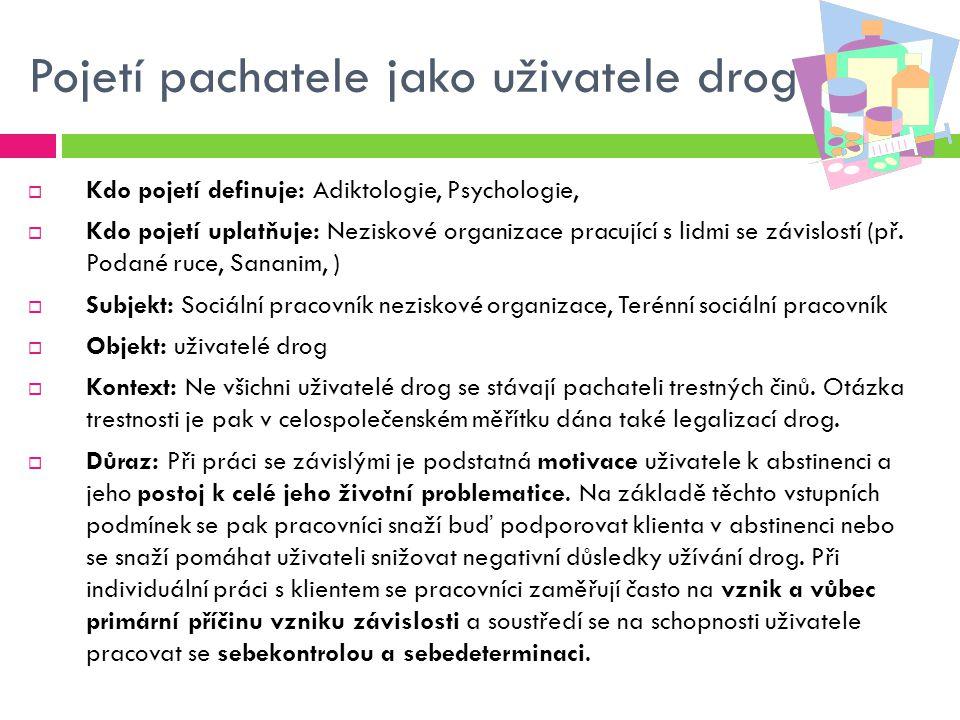 Pojetí pachatele jako uživatele drog
