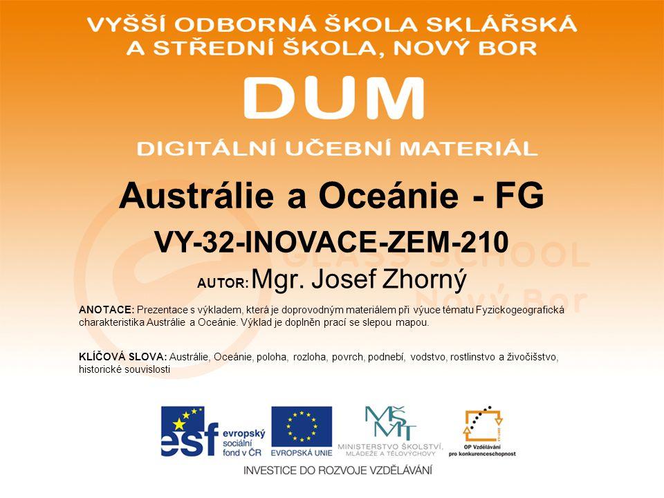 Austrálie a Oceánie - FG