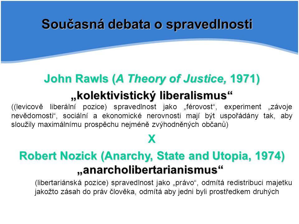 Současná debata o spravedlnosti