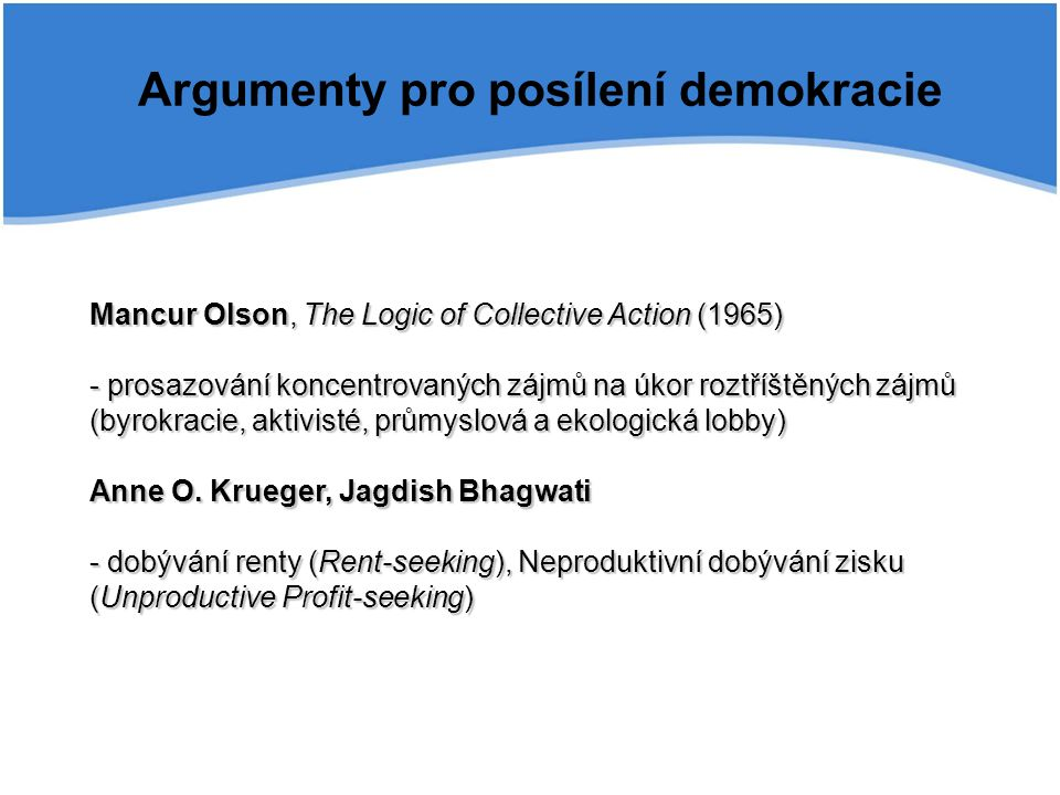 Argumenty pro posílení demokracie