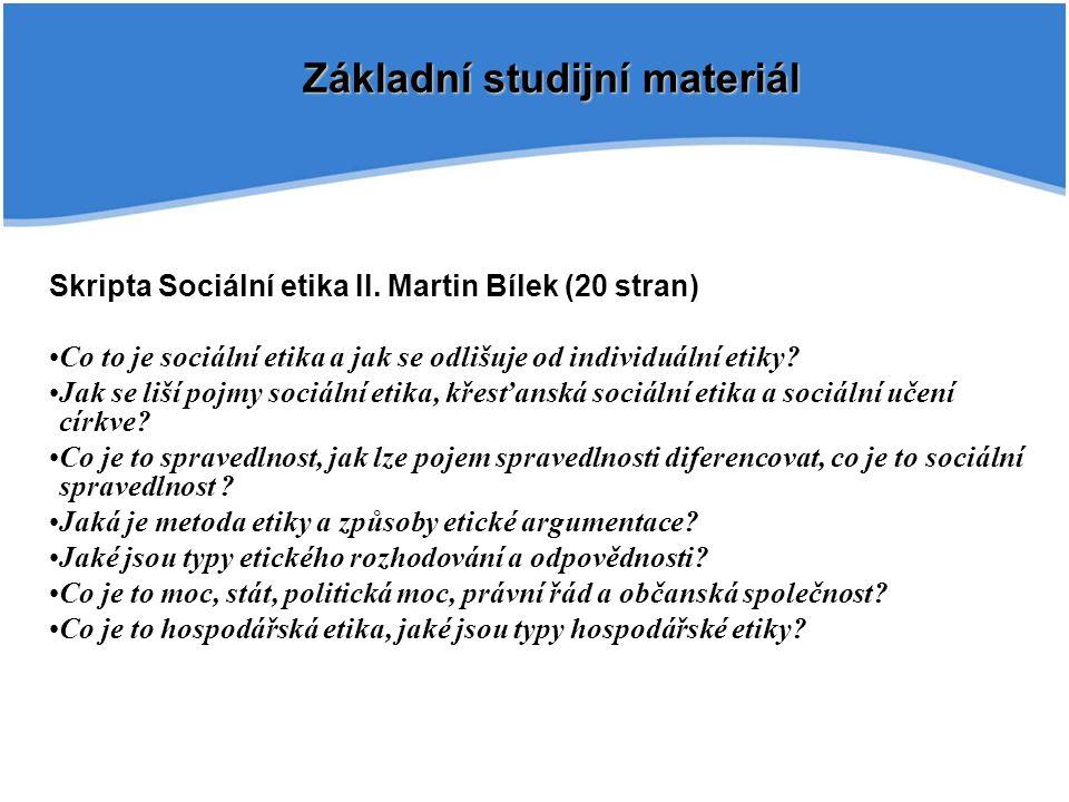 Základní studijní materiál