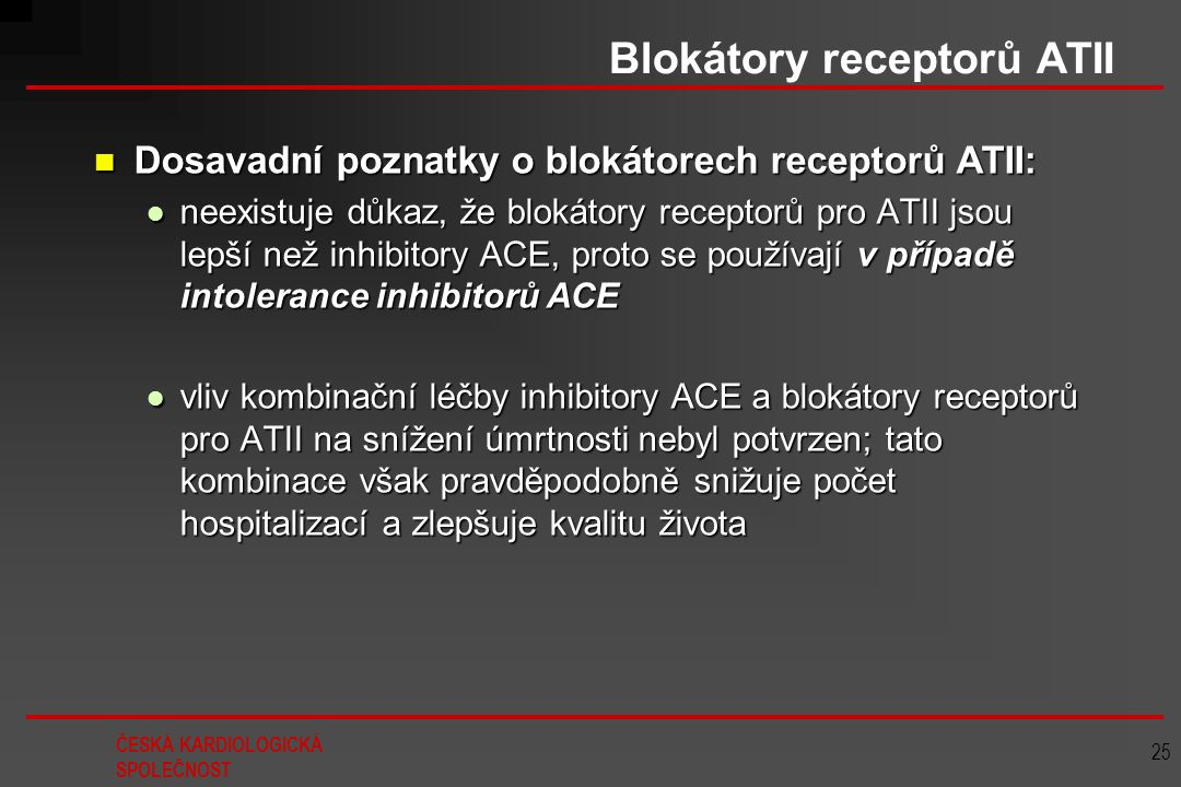 Blokátory receptorů ATII