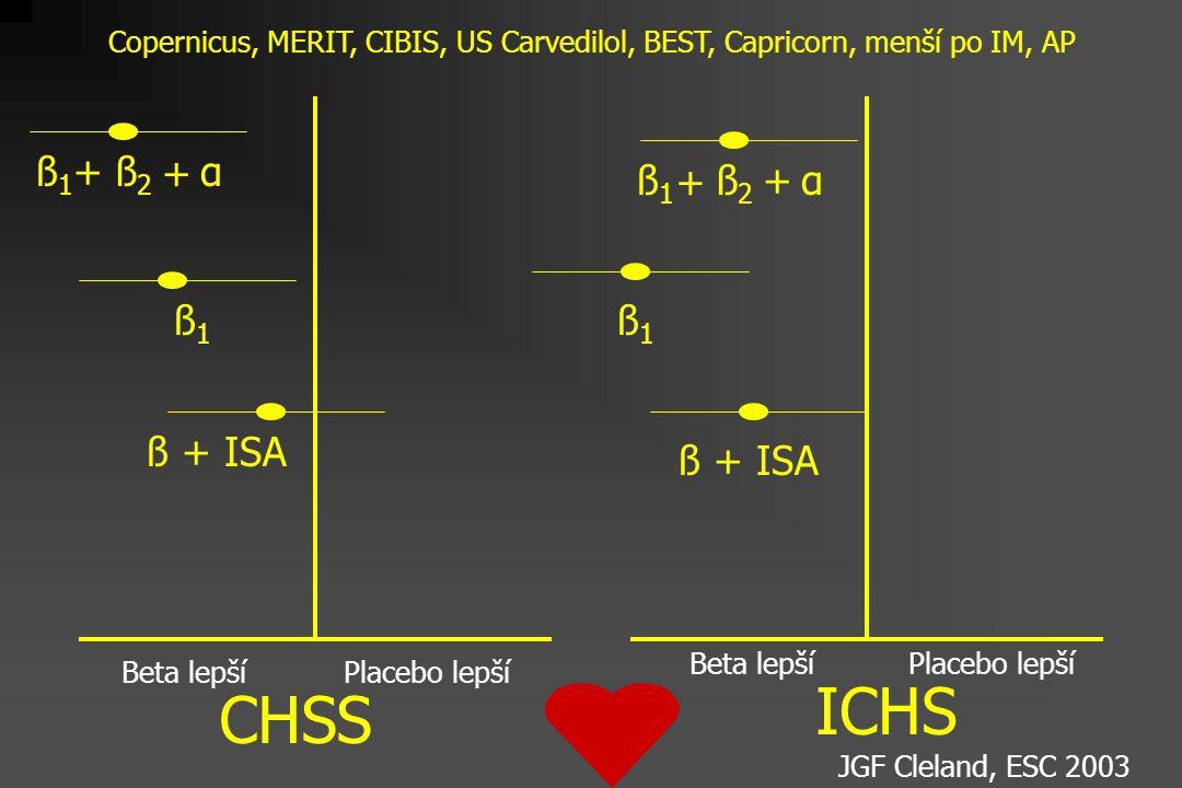 ICHS CHSS ß1 + ß2 + α ß1 + ß2 + α ß1 ß1 ß + ISA ß + ISA