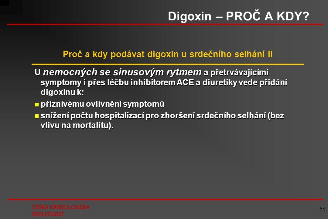 Proč a kdy podávat digoxin u srdečního selhání II
