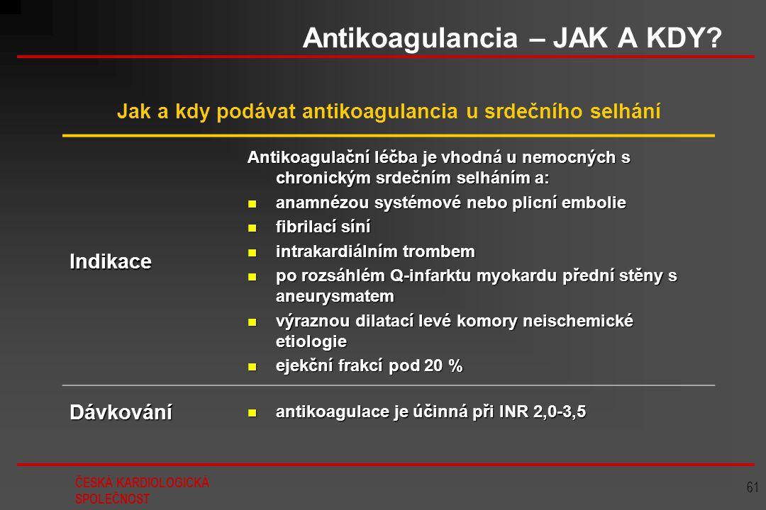Antikoagulancia – JAK A KDY