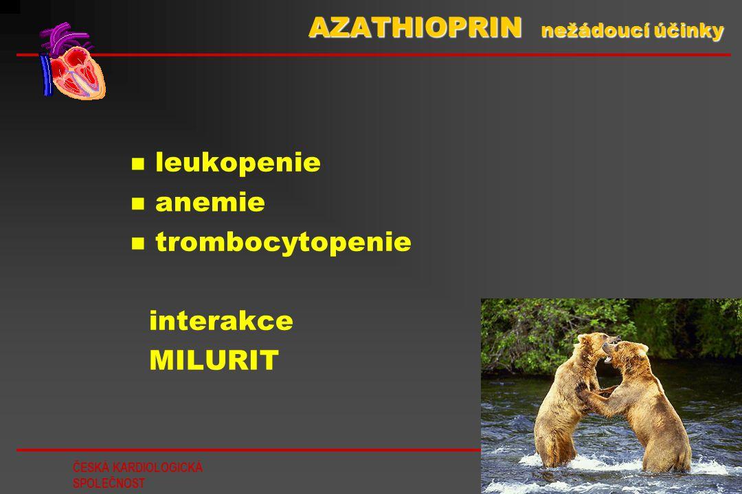 AZATHIOPRIN nežádoucí účinky