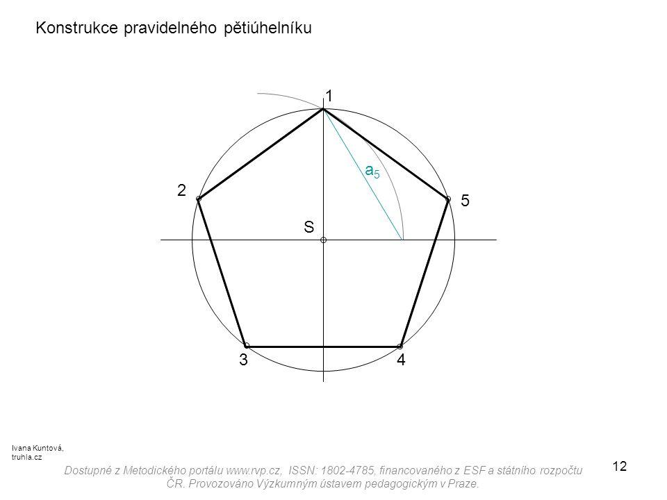 Konstrukce pravidelného pětiúhelníku