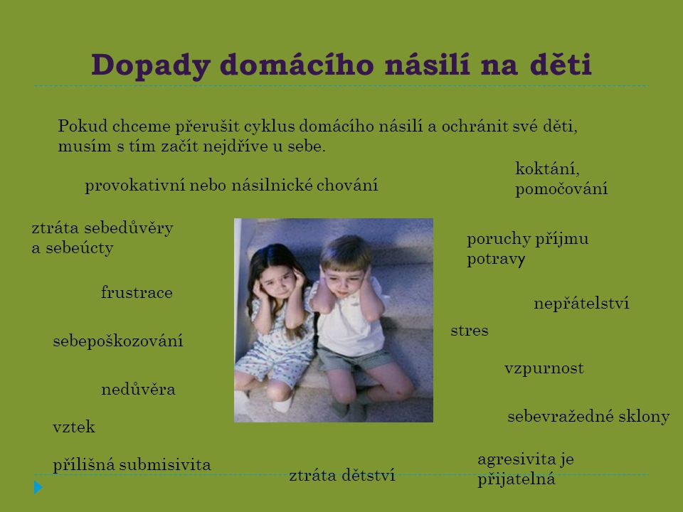 Dopady domácího násilí na děti