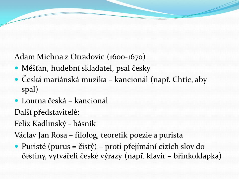 Adam Michna z Otradovic (1600-1670)