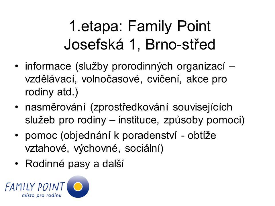 1.etapa: Family Point Josefská 1, Brno-střed