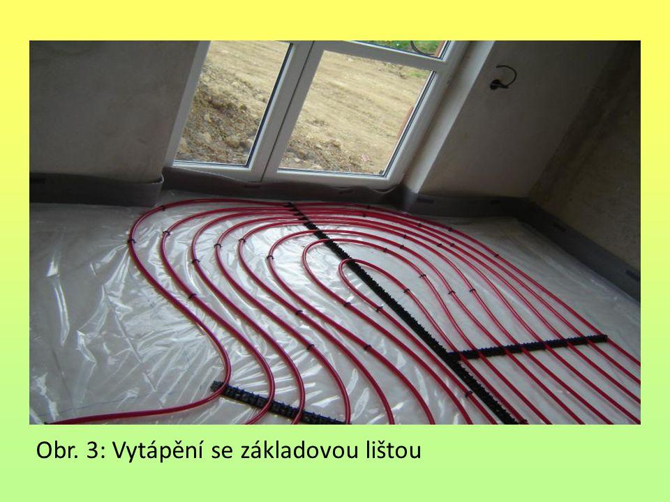 Obr. 3: Vytápění se základovou lištou