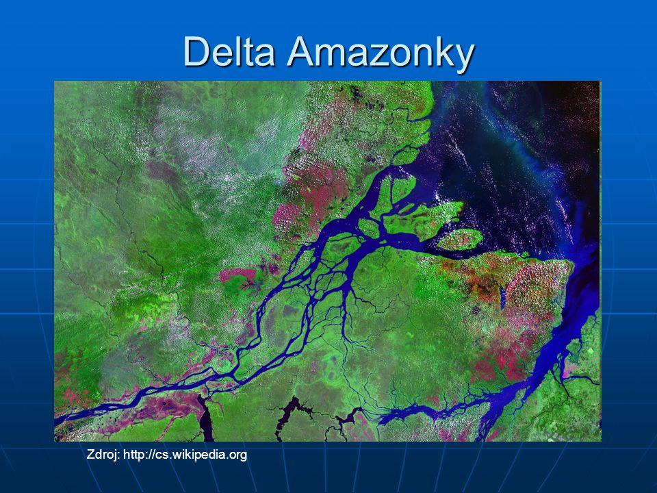 Delta Amazonky Zdroj: http://cs.wikipedia.org