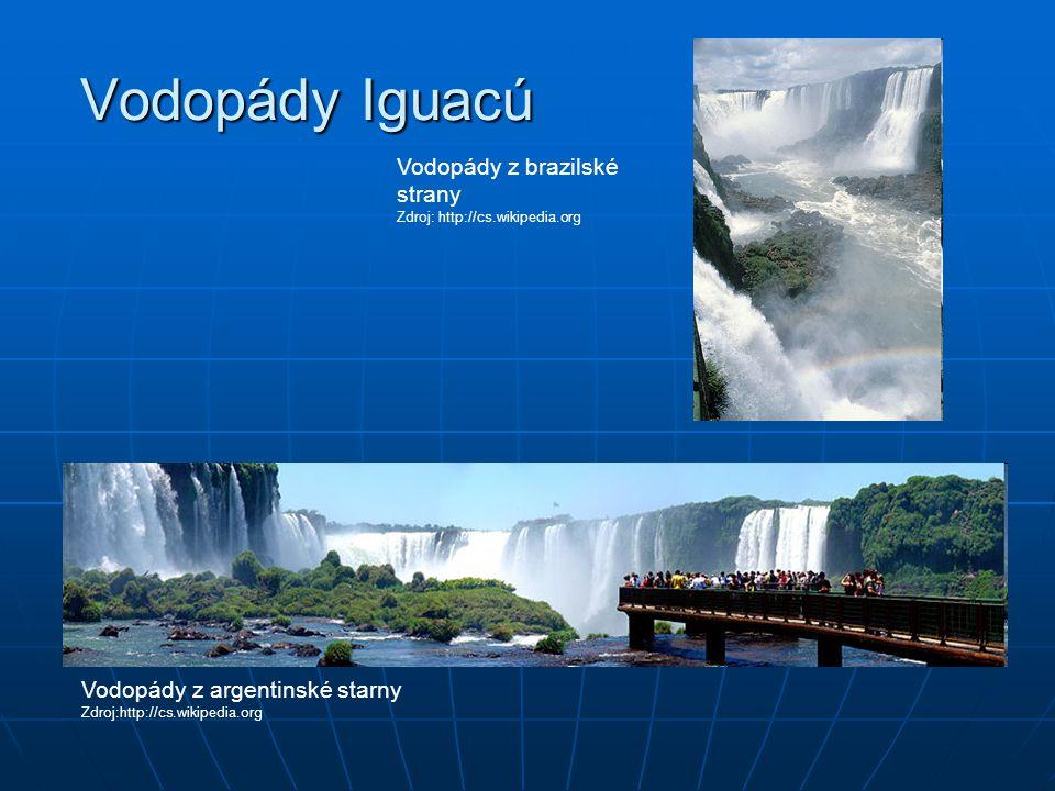 Vodopády Iguacú Vodopády z brazilské strany