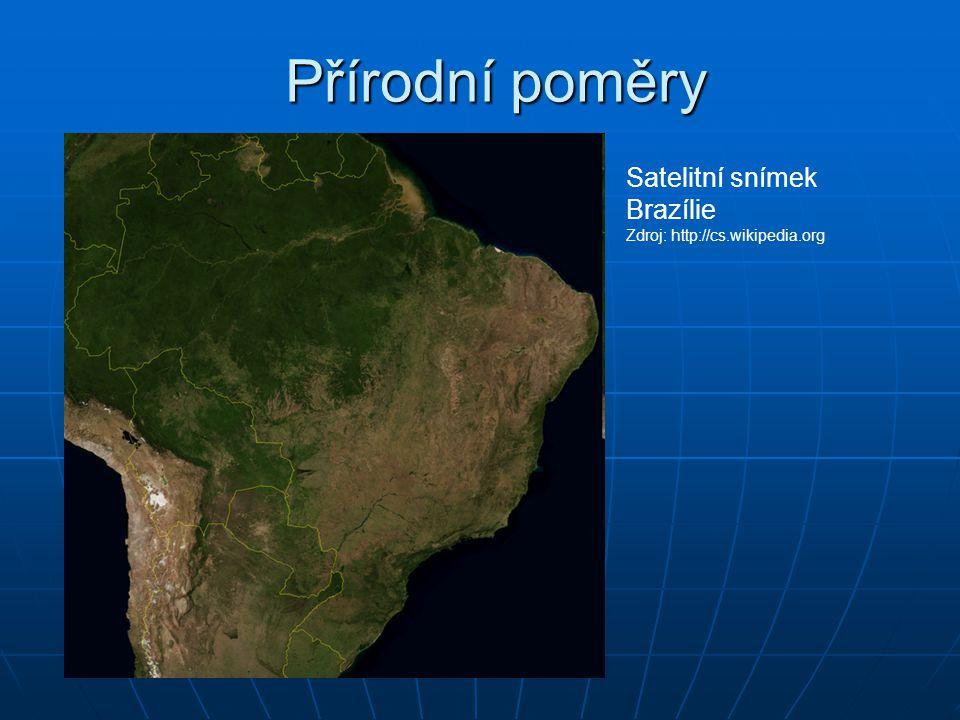 Přírodní poměry Satelitní snímek Brazílie