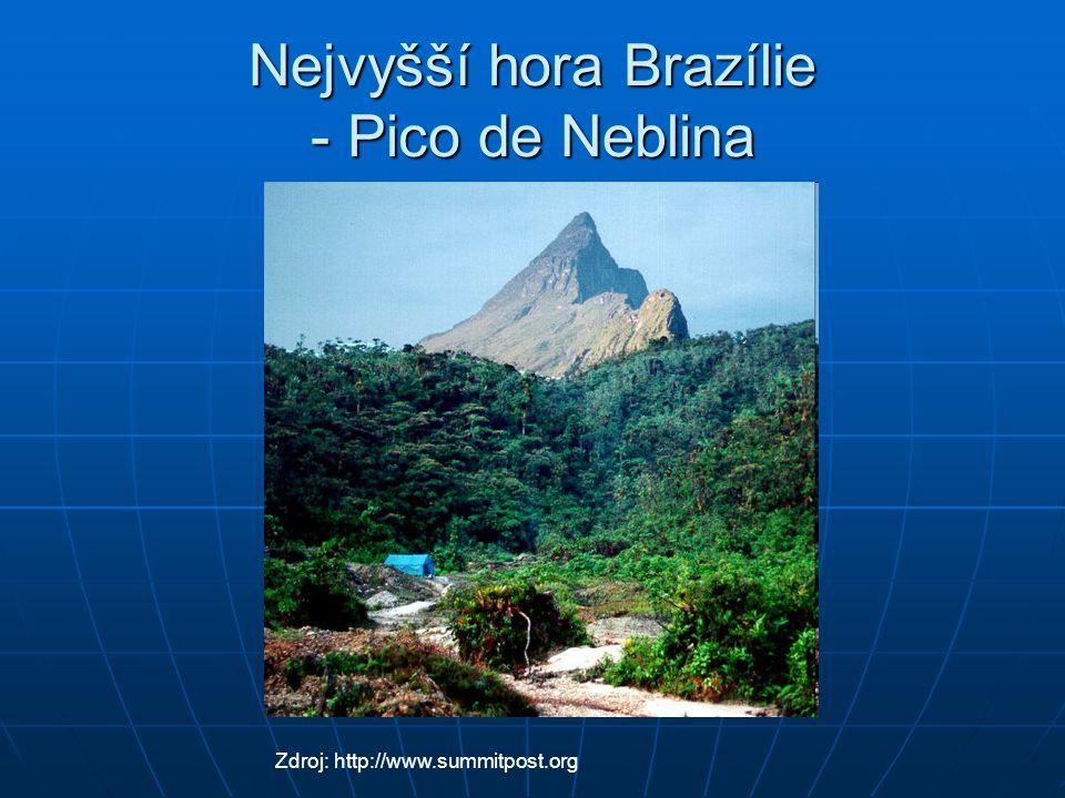 Nejvyšší hora Brazílie - Pico de Neblina