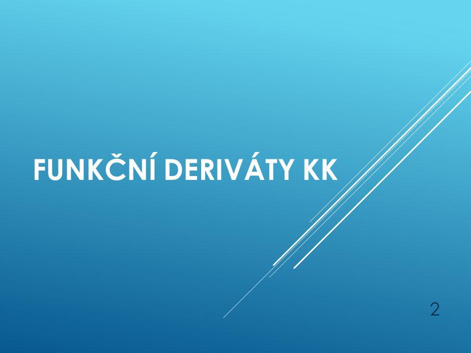 Funkční deriváty KK