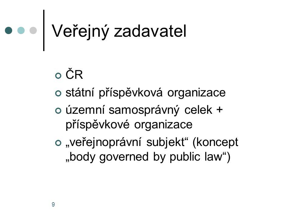 Veřejný zadavatel ČR státní příspěvková organizace