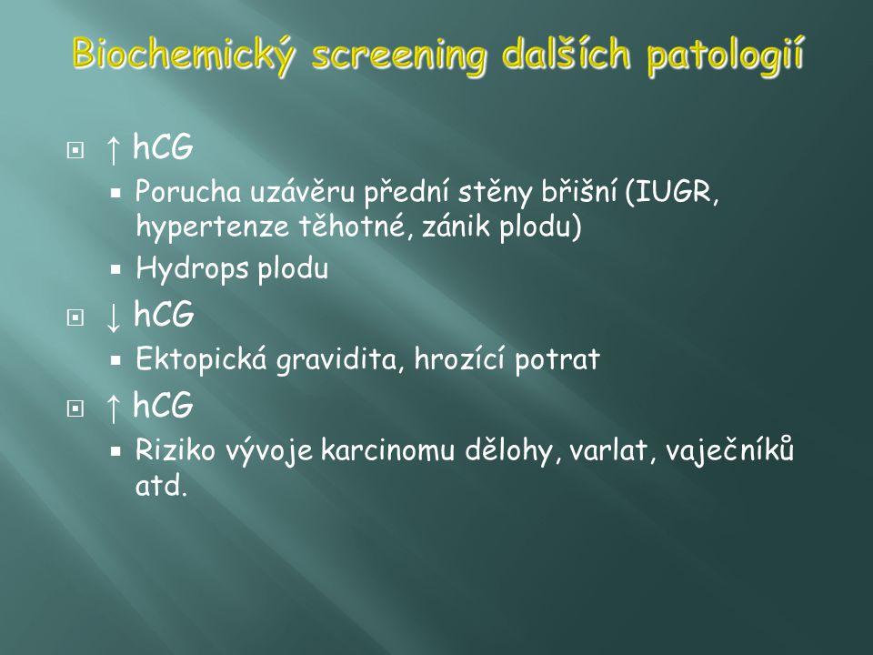 Biochemický screening dalších patologií
