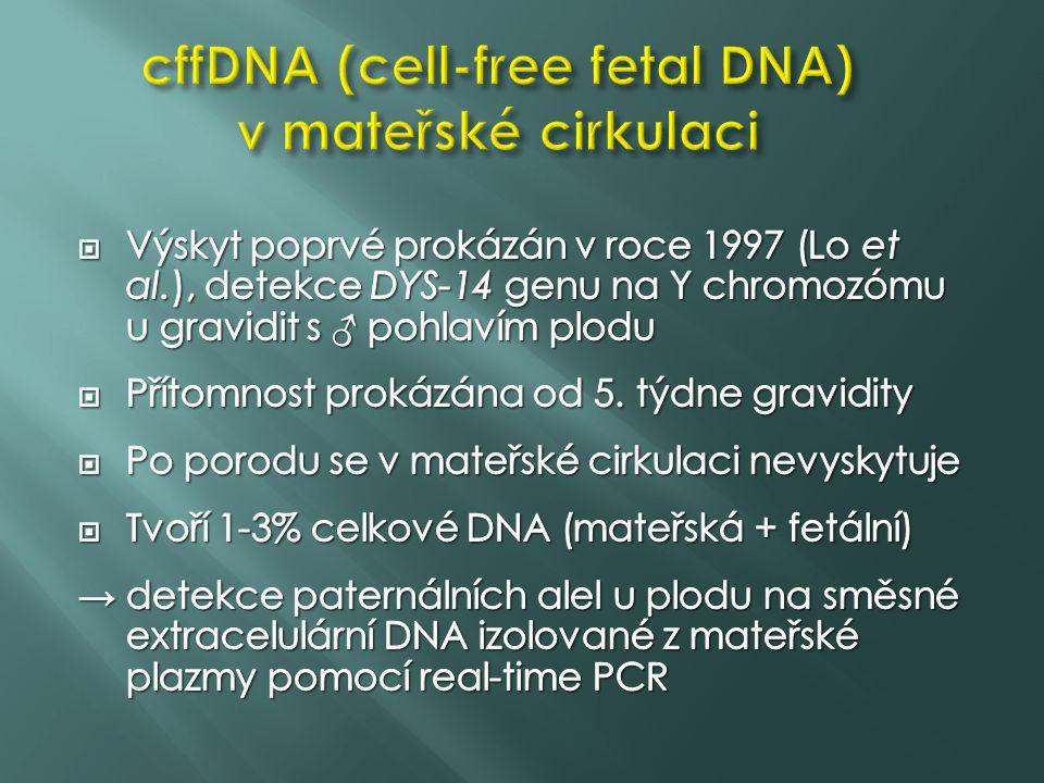 cffDNA (cell-free fetal DNA) v mateřské cirkulaci