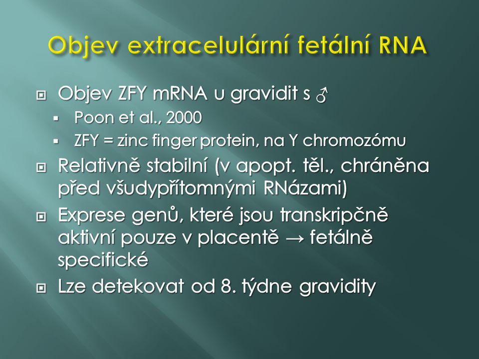 Objev extracelulární fetální RNA