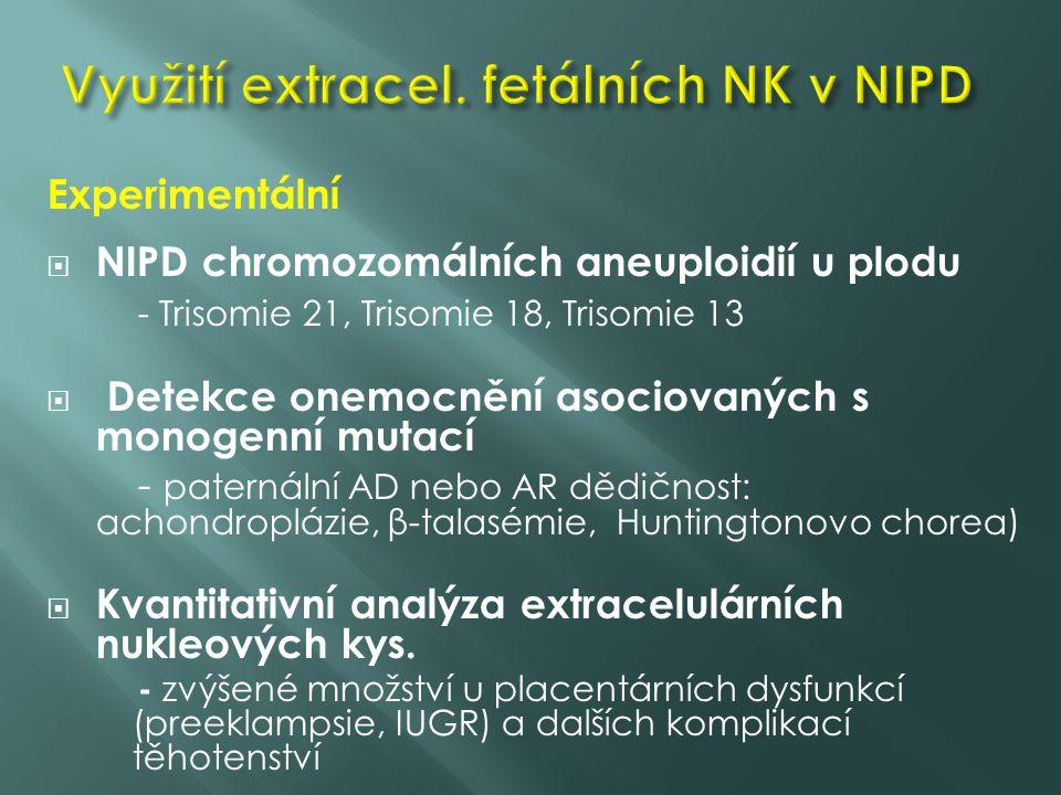 Využití extracel. fetálních NK v NIPD