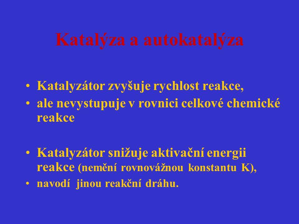 Katalýza a autokatalýza
